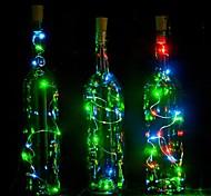 1pcs 2m 20 led пробка формы вел ночь звездный свет медь проволока стопор бутылка бутылка украшение прохладно теплый белый красочный