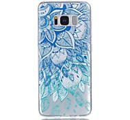 Для samsung galaxy s8 s8 плюс синий и белый рельефный лак для рисунка не увядает с материалом корпуса телефона tpu s7 s7 edge s6 s5