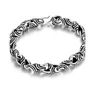 MPL Fashion Silver Mens Bracelet