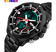 SKMEI Luxury Brand  Watches Multifunction Army Military Digital Analog Quartz Date LED Stainless Steel Sport Wrist watch