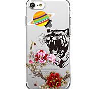 Для iphone 7 плюс 7case обложка экологически чистый прозрачный узор задняя крышка чехол для животных цветок мягкий tpu для iphone 6s плюс