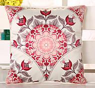 1 Pcs Top Grade Bohemia Red Flowers Pillow Cover Sofa Cushion Pillowcase