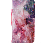 For Samsung Galaxy A3 A5 (2017) Case Cover Stars Pattern Painted PU Skin Material Card Stent Wallet Phone Case