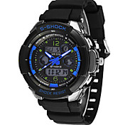 Men's Fashion Watch Digital Silicone Band Black