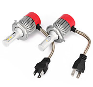 H4 36W/2pcs 7200LM CSP LED Bulb LED White 360 Hi/Low Beam Motorcycle Headlight 6500K 9-32V