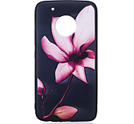 For Moto G5 Plus G5  Case Cover Flower Pattern Painted Embossed Feel TPU Soft Case Phone Case