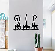 Животные Праздник Отдых Наклейки 3D наклейки Декоративные наклейки на стены 3D,Бумага материал Украшение дома Наклейка на стену