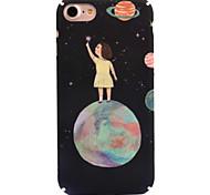 Для яблока iphone 7 7 плюс 6s 6 плюс чехол чехол мультфильм узор деколь уход за кожей touch pc материал телефон случай