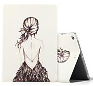 Para ipad de maçã (2017) ipad air 2 ipad capa de caixa de ar com stand flip pattern caixa de corpo inteiro senhora sexy couro duro PU