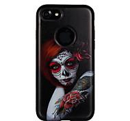 Случай для яблока iphone 7 7 плюс крышка случая красная глаз девушка картина ПК tpu combo сильная коробка случая падения сброса для iphone