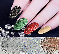 New 500Pcs Micro Diamond DIY Nails Rhinestones Crystal Flat Back Non Hotfix Rhinestones stickers Need Glue Nail Art Decoration