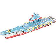 Пазлы Набор для творчества 3D пазлы Строительные блоки Игрушки своими руками Военные корабли Авианосец Корабль