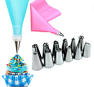 14 предметов Инструменты для выпечки Цветы Для торта Нержавеющая сталь Свадьба День рождения День Святого Валентина