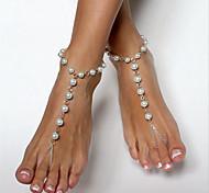 Жен. Ножной браслет/Браслеты Искусственный жемчуг Медь Мода бижутерия Шарообразные Бижутерия Назначение Повседневные Одежда для отдыха на