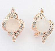 Stud Earrings Drop Earrings New Mismatching Asymmetry Earrings Fashion Elegant Opal Rhinestone  For Women Party  Gift Jewelry