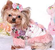 Собака Комбинезоны Одежда для собак Сохраняет тепло Принцесса