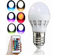 3W Умная LED лампа A50 1 Integrate LED 100 lm RGB На пульте управления Декоративная V 1 шт.