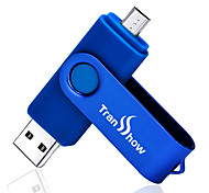 Transshow 16G OTG Micro USB USB 2.0 Rotating Flash Drive U Disk For Android Cellphone Tablet PC