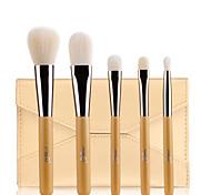 MSQ® 5pcs Makeup Brushes set Hypoallergenic/Limits bacteria Fiber Golden Blush brush Eye Shadow  Brush Makeup Kit Cosmetic Brushes