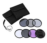 Andoer 49mm UV CPL FLD ND(ND2 ND4 ND8) Photography Filter Kit Set Ultraviolet Circular-Polarizing Fluorescent Neutral Density Filter