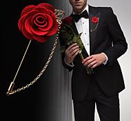 Муж. Жен. Броши Мода Euramerican Цветочный принт Искусственные цветы Смешанные материалы Сплав В форме цветка В форме листа Бижутерия