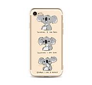 Чехол для iphone 7 плюс 7 крышка прозрачный узор задняя крышка чехол мультфильм коала мягкий tpu для яблока iphone 6s плюс 6 плюс 6s 6 se
