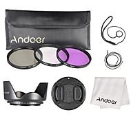 Andoer 62mm filter kit (uv cpl fld) нейлоновый переносной чехол объектив колпачок объектив колпачок держатель объектив капот объектив