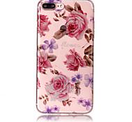 Case for apple iphone 7 plus 7 phone case tpu материал imd процесс роз шаблон hd флеш-память телефон чехол 6s плюс 6 плюс 6s 6 5s 5 se