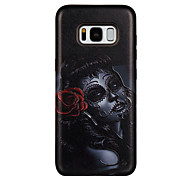 Case For Samsung Galaxy S8 S8 Plus Case Cover Curly Girl Pattern PC TPU Combo Strong Relief Drop Phone Case For Galaxy S7 S7 Edge S6 S6 Edge