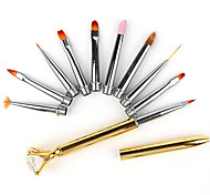 Nail Brushes Nail Art  Dotting Tools QuantityManicure Pen Set of Drill Pencil 10PCS Sets of Phototherapy Drawing Line Multi-function Pen