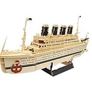 Пазлы Набор для творчества 3D пазлы Строительные блоки Игрушки своими руками Корабль Дерево