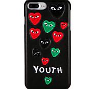 Чехол для appleiphone 7 плюс / 7 обложка шаблон задняя крышка чехол слово / фраза сердце жесткий ПК iphone 6s плюс / 6 плюс / 6s / 6