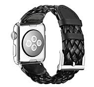 Kunstleder Klassische Schnalle Für Apple Uhr