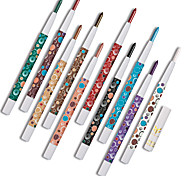 10 Pcs/Set Red Eye Shadow Pigment Kit Waterproof Shimmer And Matte Huamianli Eyeshadow Pencil Color Cosmetics Makeup
