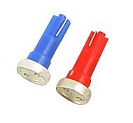 2pcs 1w DC12V красный Буле t5 1cob осмотр лампы декоративные лампы свет чтения свет номерного знака двери лампа