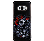 Case For Samsung Galaxy S8 S8 Plus Case Cover Rose Girl Pattern PC TPU Combo Strong Relief Drop Phone Case For Galaxy S7 S7 Edge S6 S6 Edge