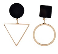 Drop Earrings New Mismatching Asymmetry Earrings Personalized Simple Style Triangle Circle Earrings  For Women Daily Party Gift Movie Jewelry