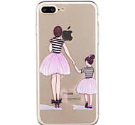 Para iphone 7plus 7 caixa de telefone material tpu padrão de menina caixa de telefone pintada 6s mais 6plus 6s 6 se 5s 5