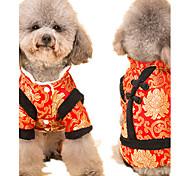 Собака Комбинезоны Одежда для собак На каждый день Новый год Геометрические линии Белый Черный