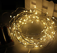 3M 30Led 3AA 4.5V Battery Powered Waterproof Decoration LED Copper Wire  Lights String  for Christmas Festival Wedding Party