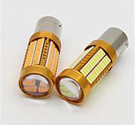 2pcs 106 smd4014 1156 gire la lámpara del siganal 1500lumens frena los bulbos autos 6000k t20 la luz dc12v del coche