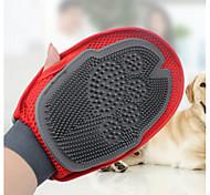 Собака Чистка Щетки Компактность Красный