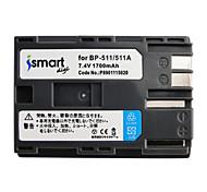 Ismartdigi BP511 7.4V 1700mAh Camera Battery for Canon 50D 40D 300D 30D 20D 10D G5 G6 BP512
