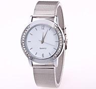 Жен. Модные часы Китайский Кварцевый Нержавеющая сталь Группа Cool Повседневная Серебристый металл