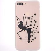 Чехол для Apple iphone 7 7 плюс чехол чехол черный ангел узор скраб полупрозрачный толстый материал tpu мягкий чехол телефон корпус 6s 6