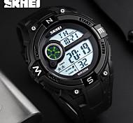 SKMEI Homens Relógio Esportivo Relógio de Pulso Relogio digital Digital Calendário Impermeável alarme Cronômetro Noctilucente Borracha