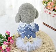 Собака Платья Одежда для собак День рождения На каждый день Принцесса