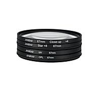 Andoer 67mm uv cpl close4 звездный 8-точечный фильтр круговой фильтр комплект круговой поляризатор фильтр макрос крупным планом звезда