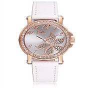 Women's Fashion Watch Quartz Leather Band White Pink Purple