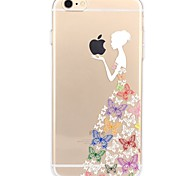 Случай для iphone 7 6 играя с яблоком logo tpu сексуальная леди мягкая ультратонкая задняя крышка чехол iphone 7 плюс 6 6s плюс se 5s 5 5c